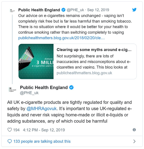 Vaping Facts Not Fiction