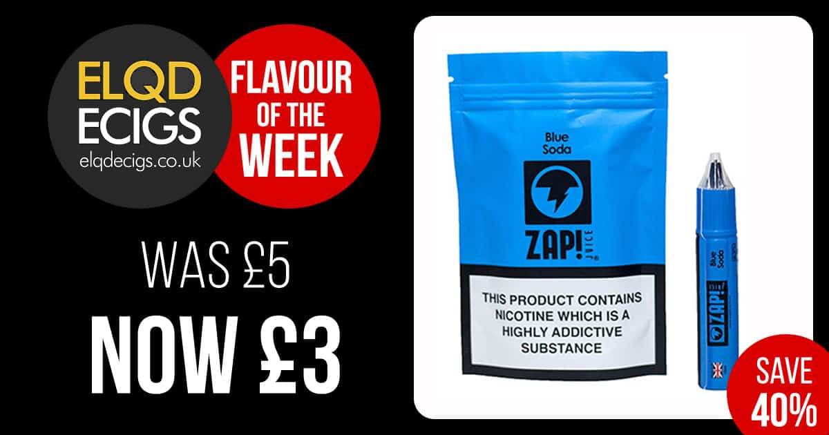 Flavour Of The Week: 40% OFF ZAP! – Blue Soda