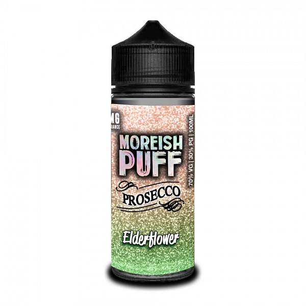 Sale 100ml Moreish Puff Prosecco Elderflower Flavoured Eliquid