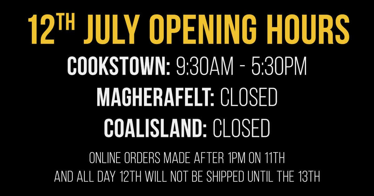 12th July Opening Times